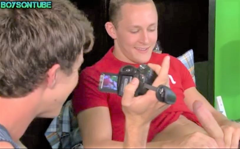Home video of two twinks